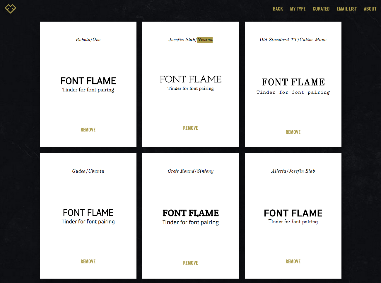 Font Flame - its like Tinder for font pairings | Font