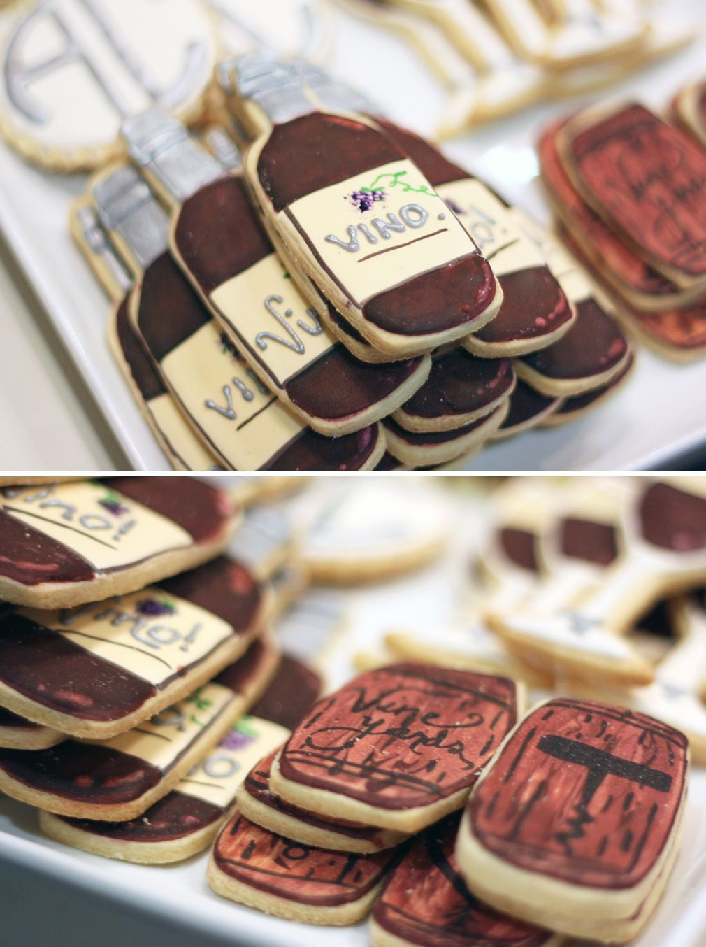 wine themed bridal shower idea sugar cookies in the shape of wine bottles and barrels lessthanaverageheight italianwine
