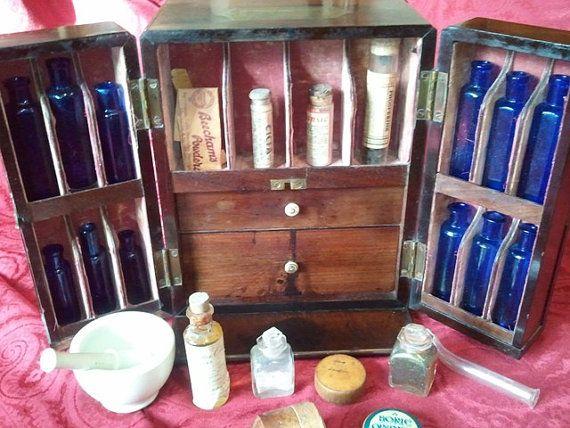 Rare Antique Medicine Chest Circa 1800s by VintageArtz on Etsy, $7000.00