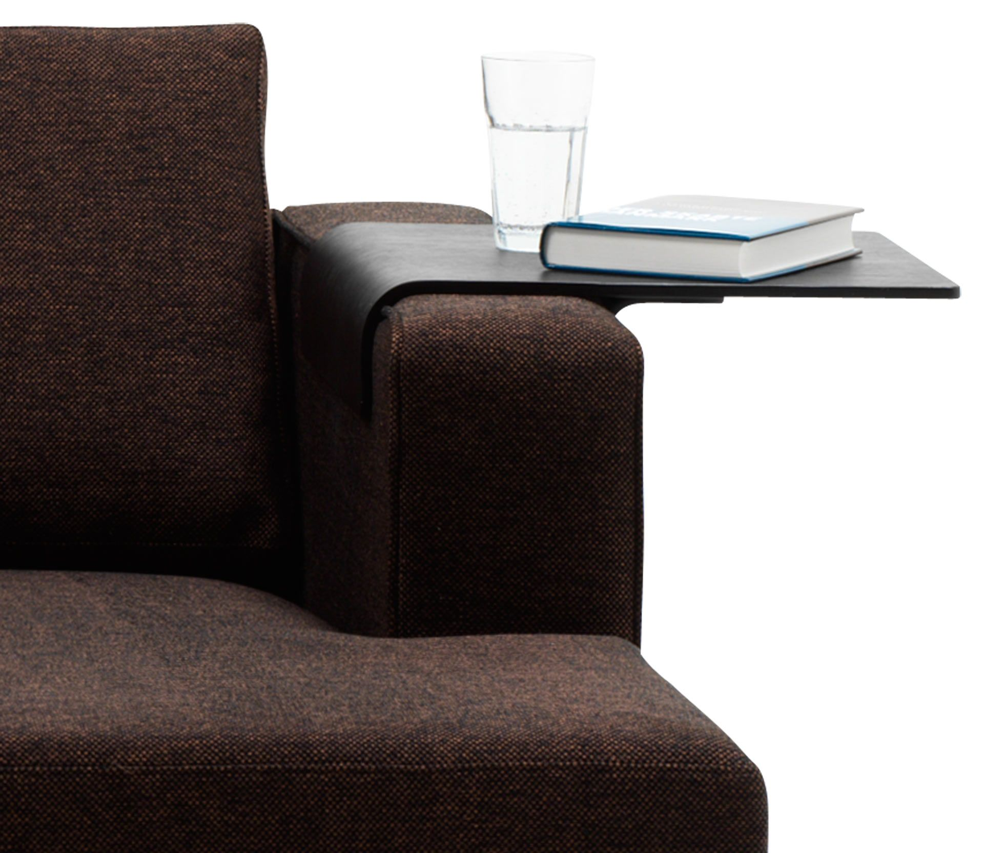 boconcept: tray, black-stained oak veneer in sofa accessories