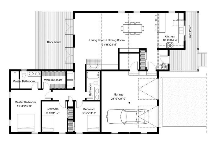 Caribean House Floorplan Three Bedroom House Plan House Plans House Floor Plans