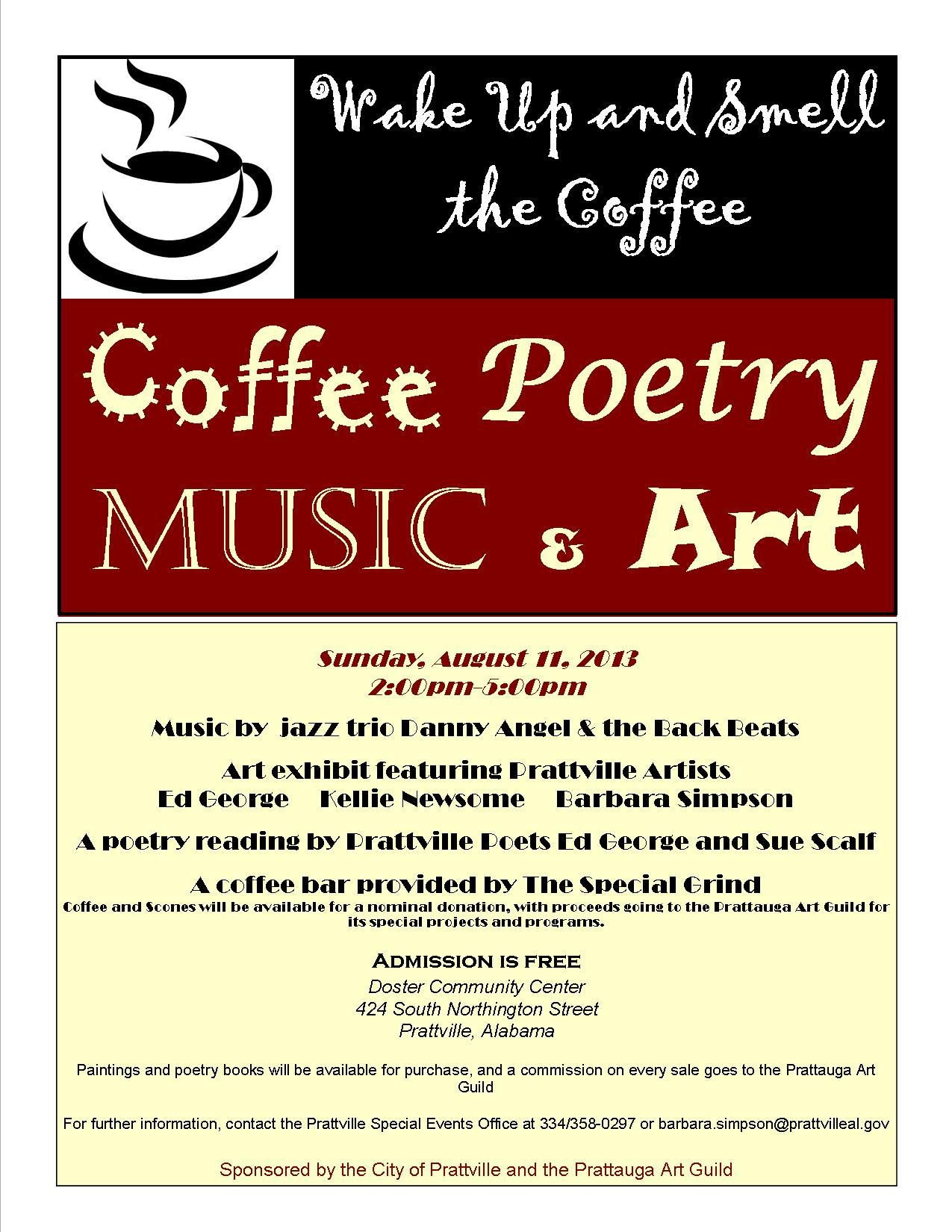 Wake Up and Smell the Coffee...great, fun event combining jazz, art, poetry and good eats!
