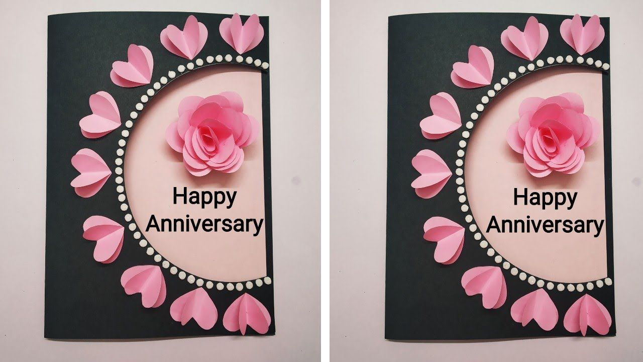 Greeting Card For Anniversary Anniversary Cards Handmade Greeting Cards Diy Anniversary Greeting Cards