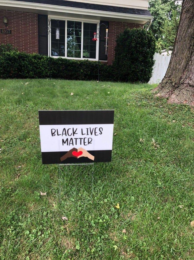 Black Lives Matter Yard Sign Black Lives Matter Sign Black Etsy Yard Signs Black Lives Matter Birthday Party Banner