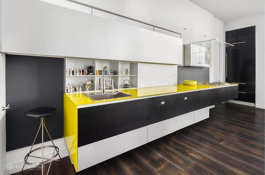 Une cuisine italienne design pour un appartement à Brooklyn (avec
