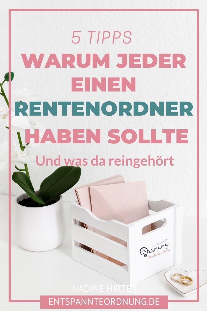Der Rentenordner Nadine Hirte Expertin Papierkram Digitale