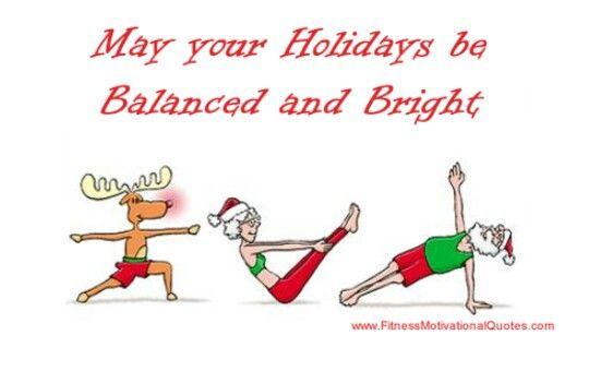 Yoga Christmas balanced bright