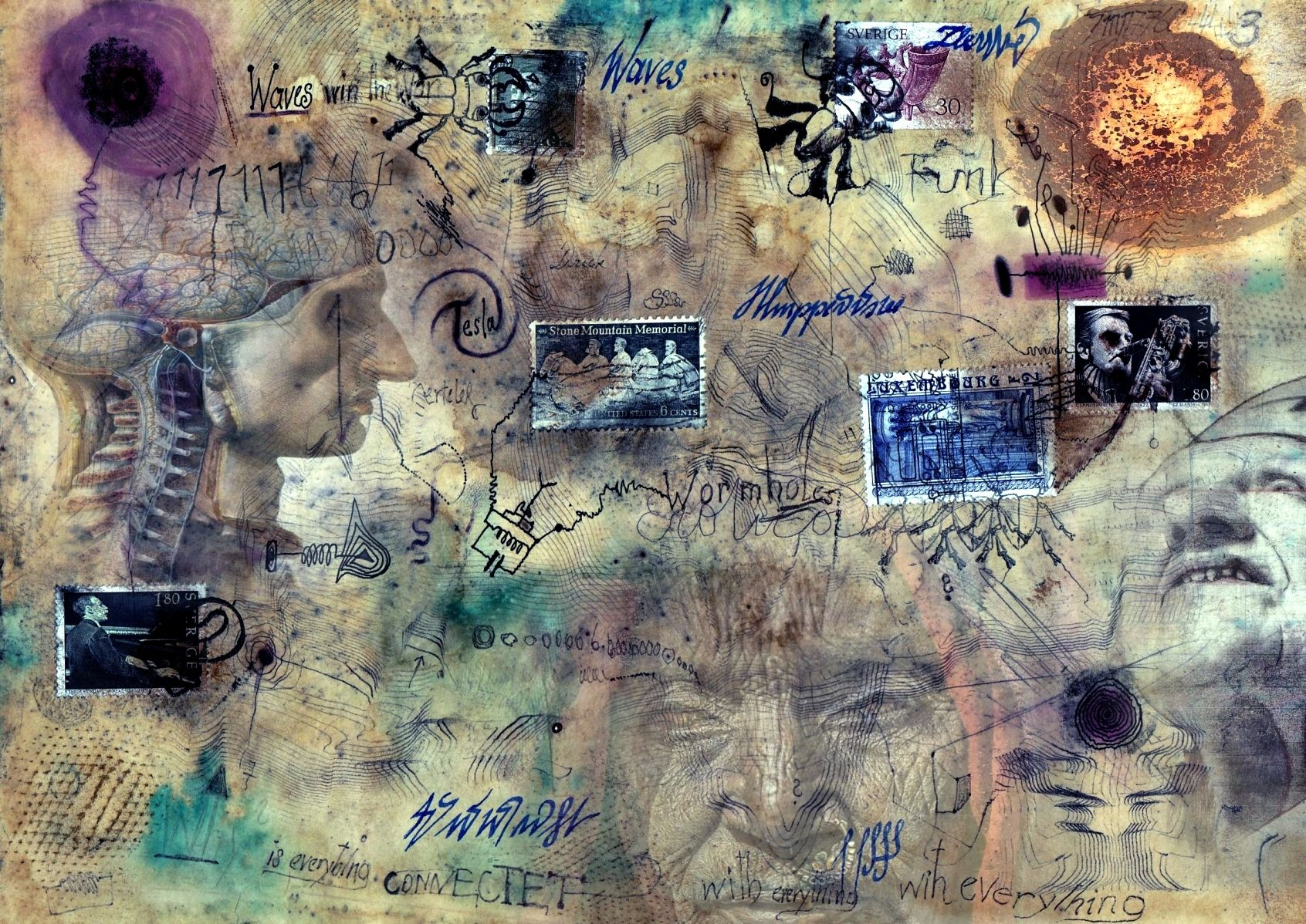 Collage and digital collage by Friedstumm