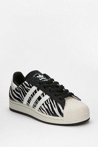 Adidas Zebra Print Superstar Sneaker