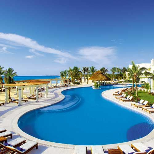 Best Riviera Maya All Inclusive Travel Agents: Large Freeform Swimming Pool Overlooking The Beach At
