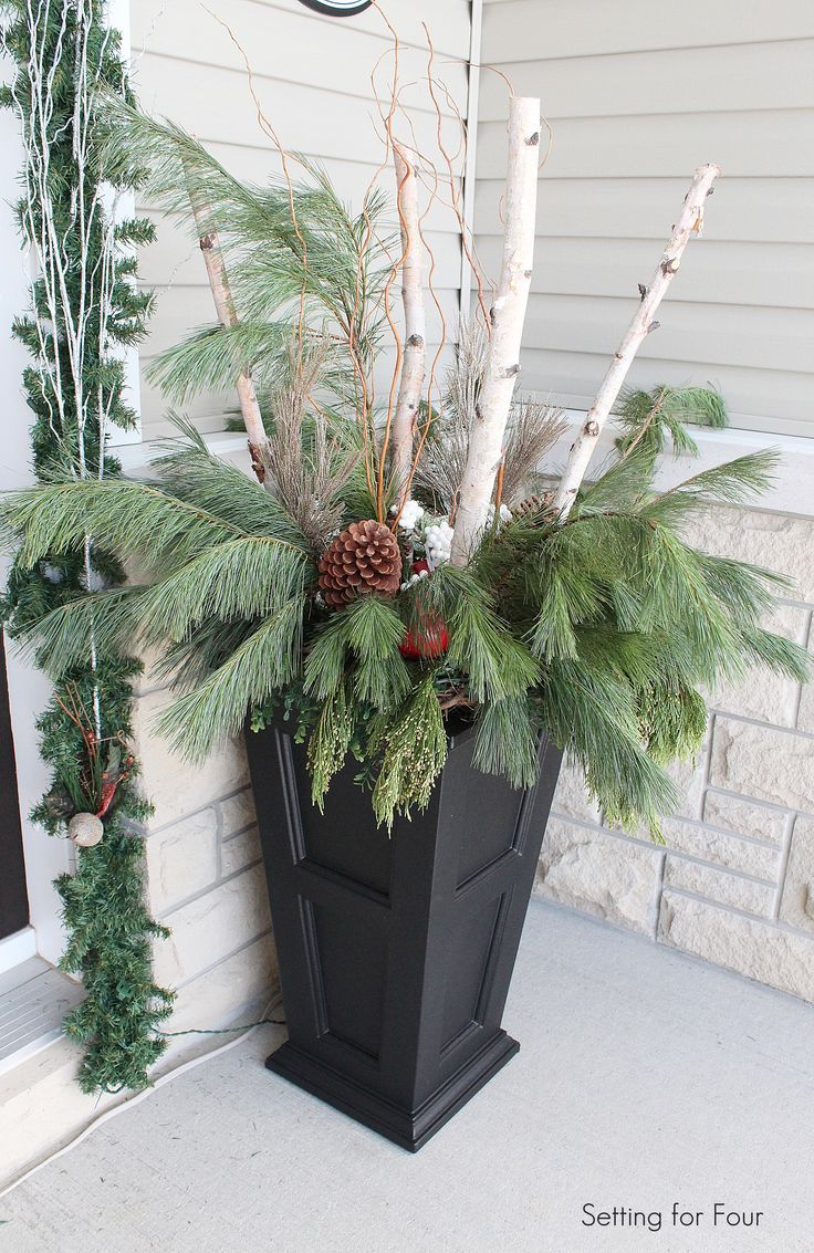 Decorating Front Porch Urns For Christmas Pictures Of Urn Christmas Fillers  This Top That Created A