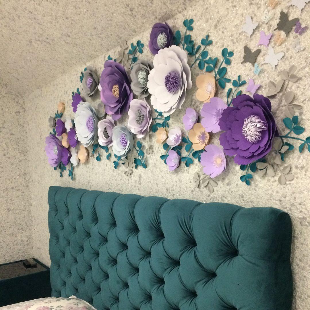 дело картинки оформление стены цветами натяжные потолки клиентов