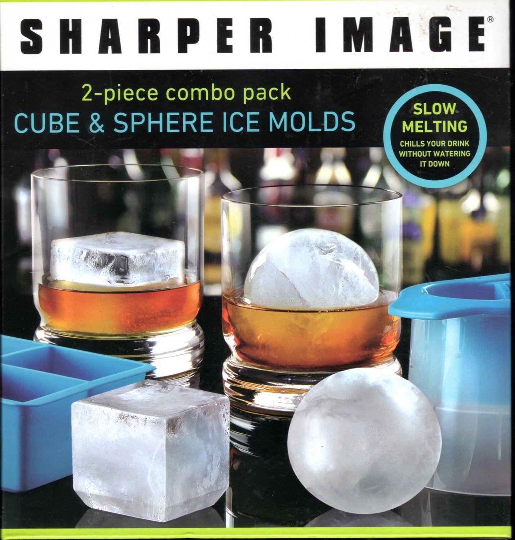 Cubesphereicemoldsfromsharperimage sphere ice
