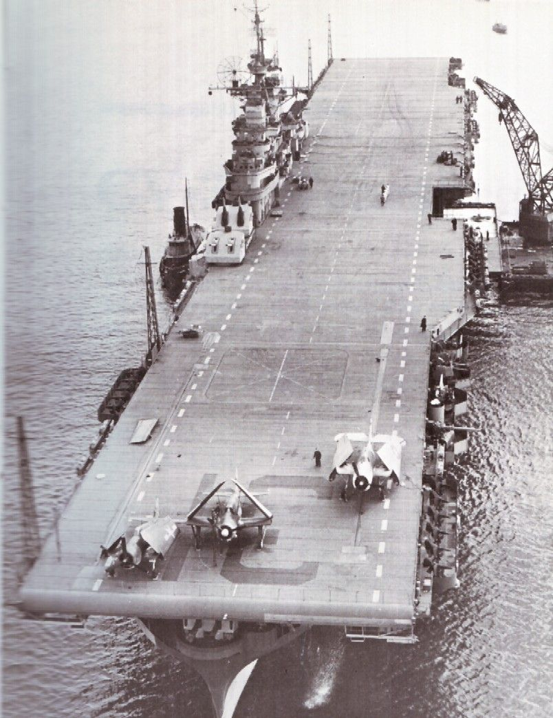 USS Bon Homme Richard (CV-31) photographed on 9 January 1945