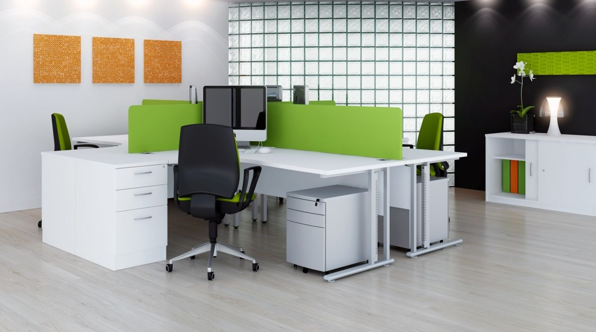 Beautiful Green And White Computer Desks In Modern Office Furniture Design Ideas Choosing Kind Of For Your Workplace