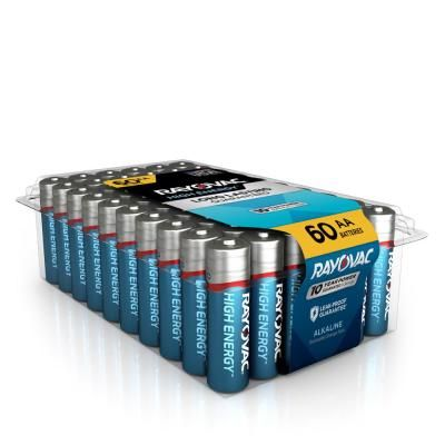 Rayovac High Energy Alkaline Aa 1 5 Volt Battery 60 Pack 815 60ppj The Home Depot In 2021 Duracell Batteries Alkaline Battery Battery