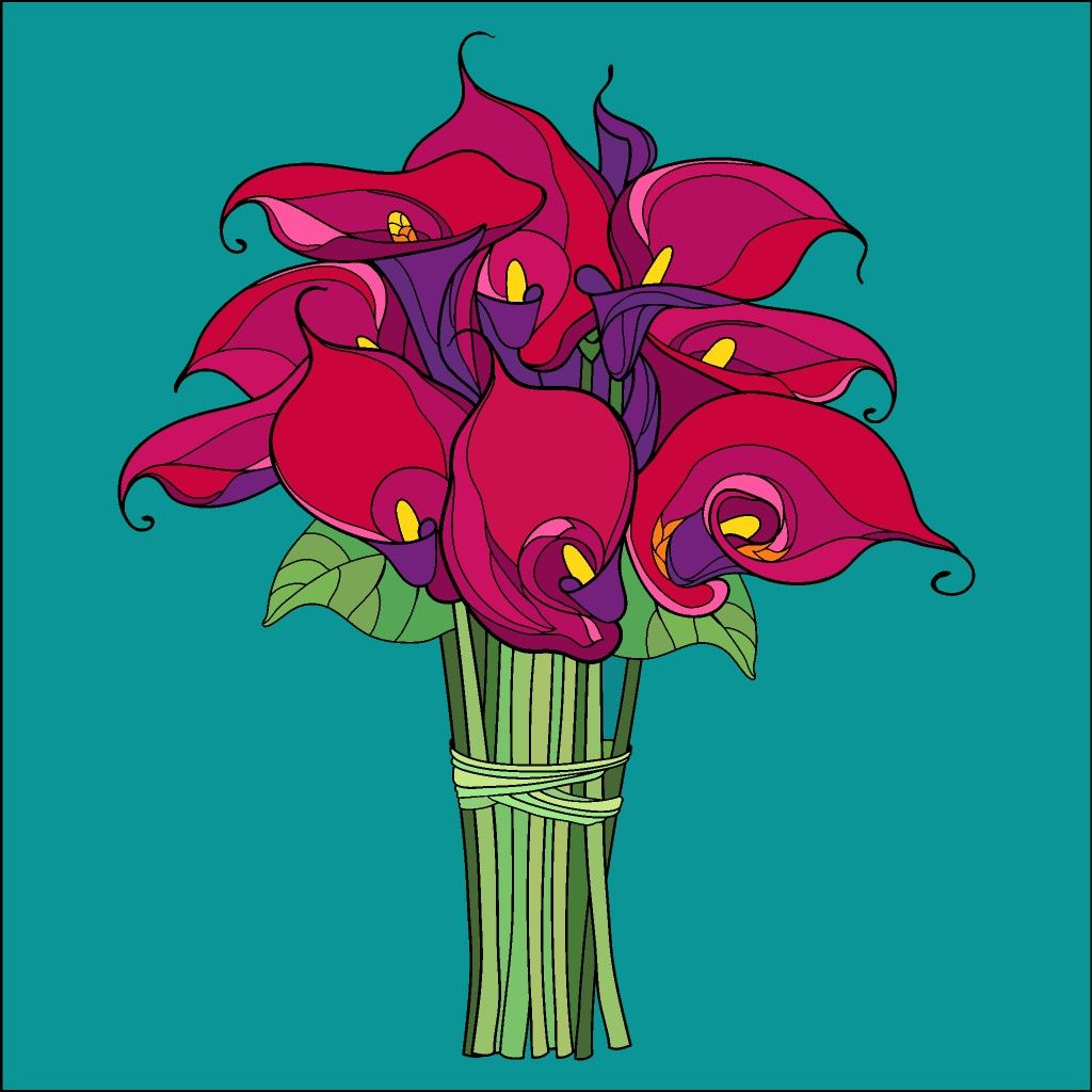 Calla Lilies Colorful drawings, Happy colors, Colorful art
