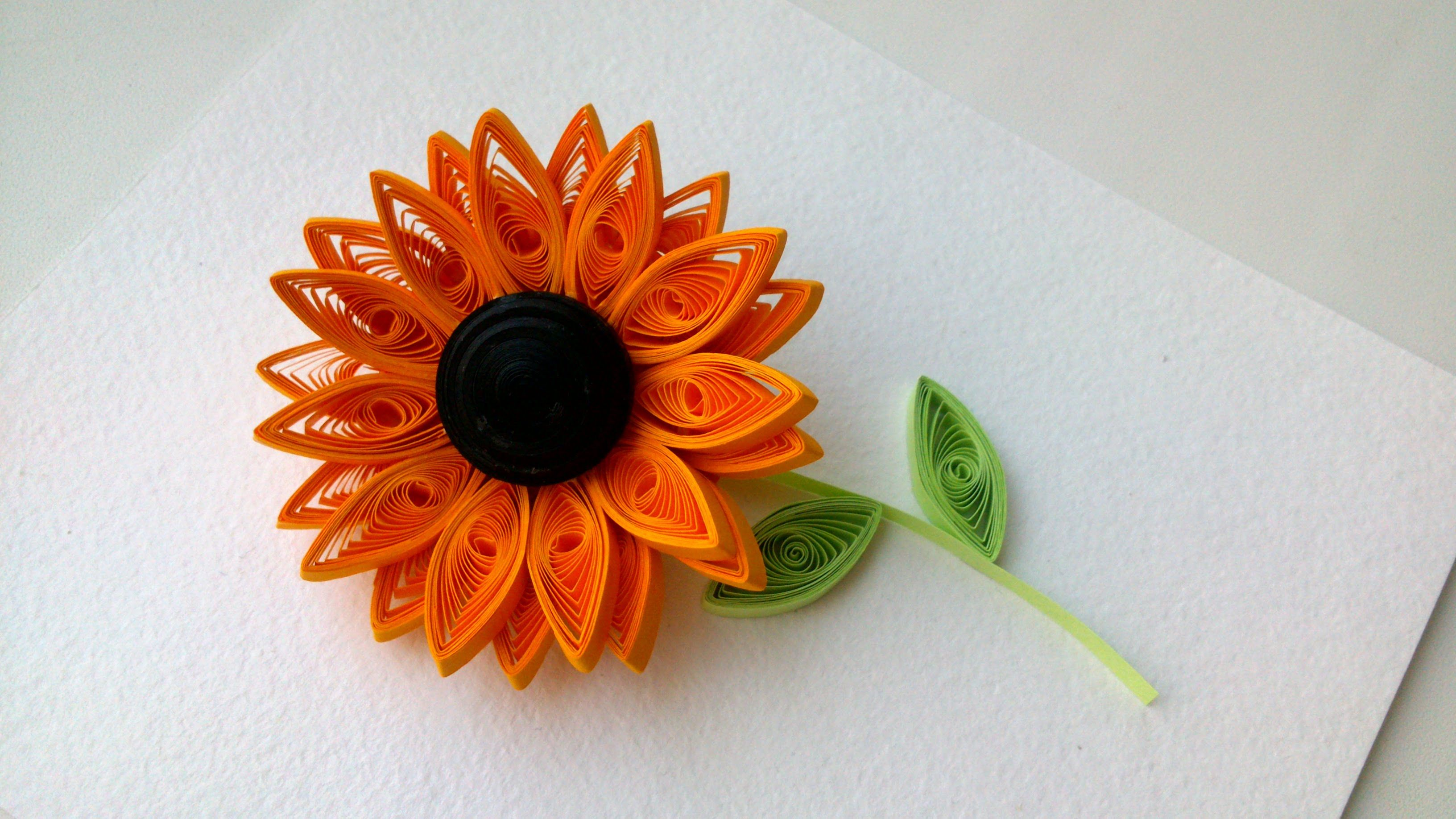 Quilling Flowers Tutorial How To Make Quilling Sunflower Flower