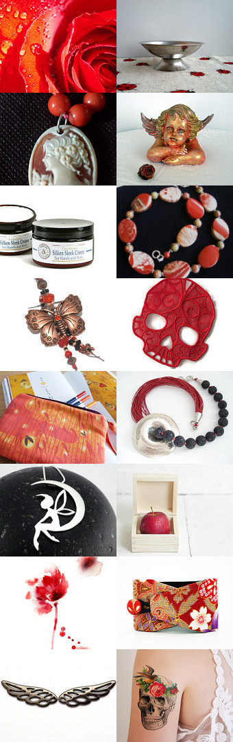 Red and Black by Laura P. on Etsy--Pinned with TreasuryPin.com