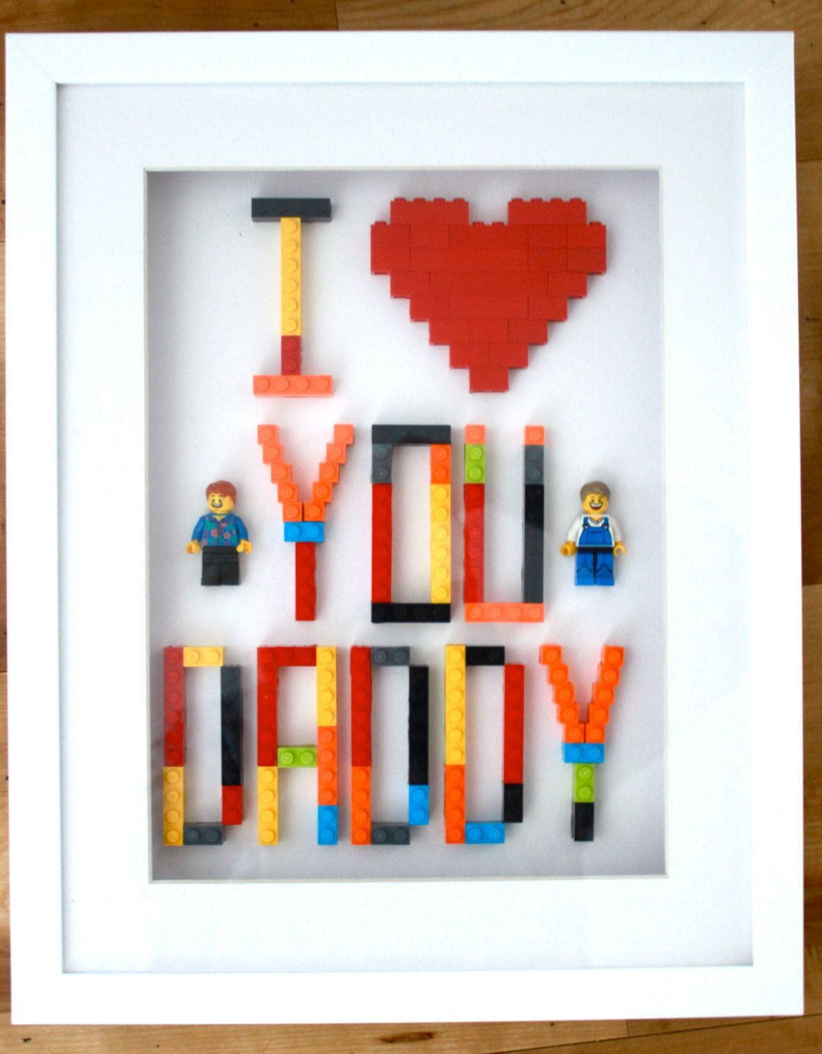 Perfect For Mother S Day Personalised Lego Gift Mum Or Dad Handmade Art In