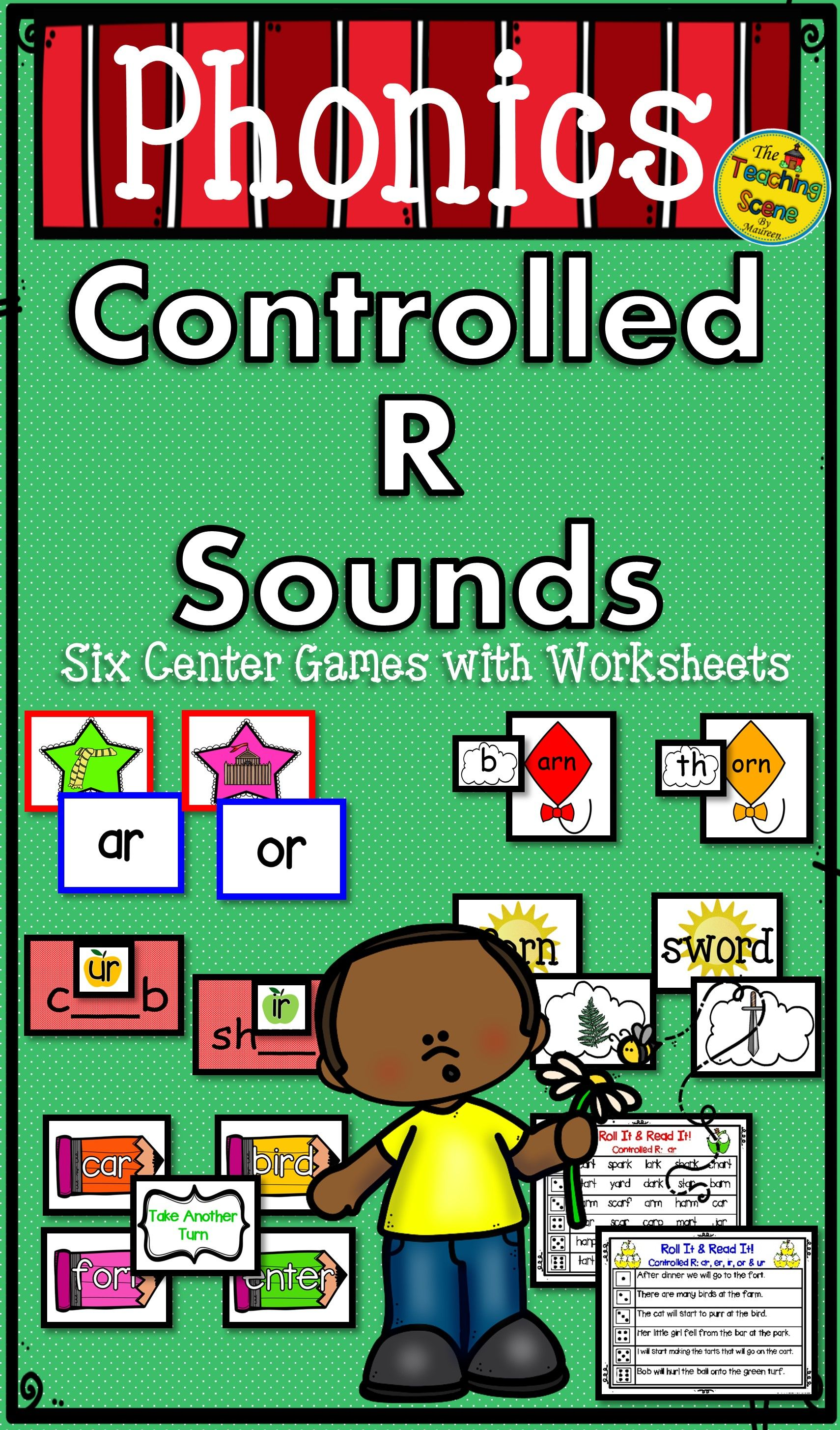 R Controlled Bossy R Vowels Phonics Centers