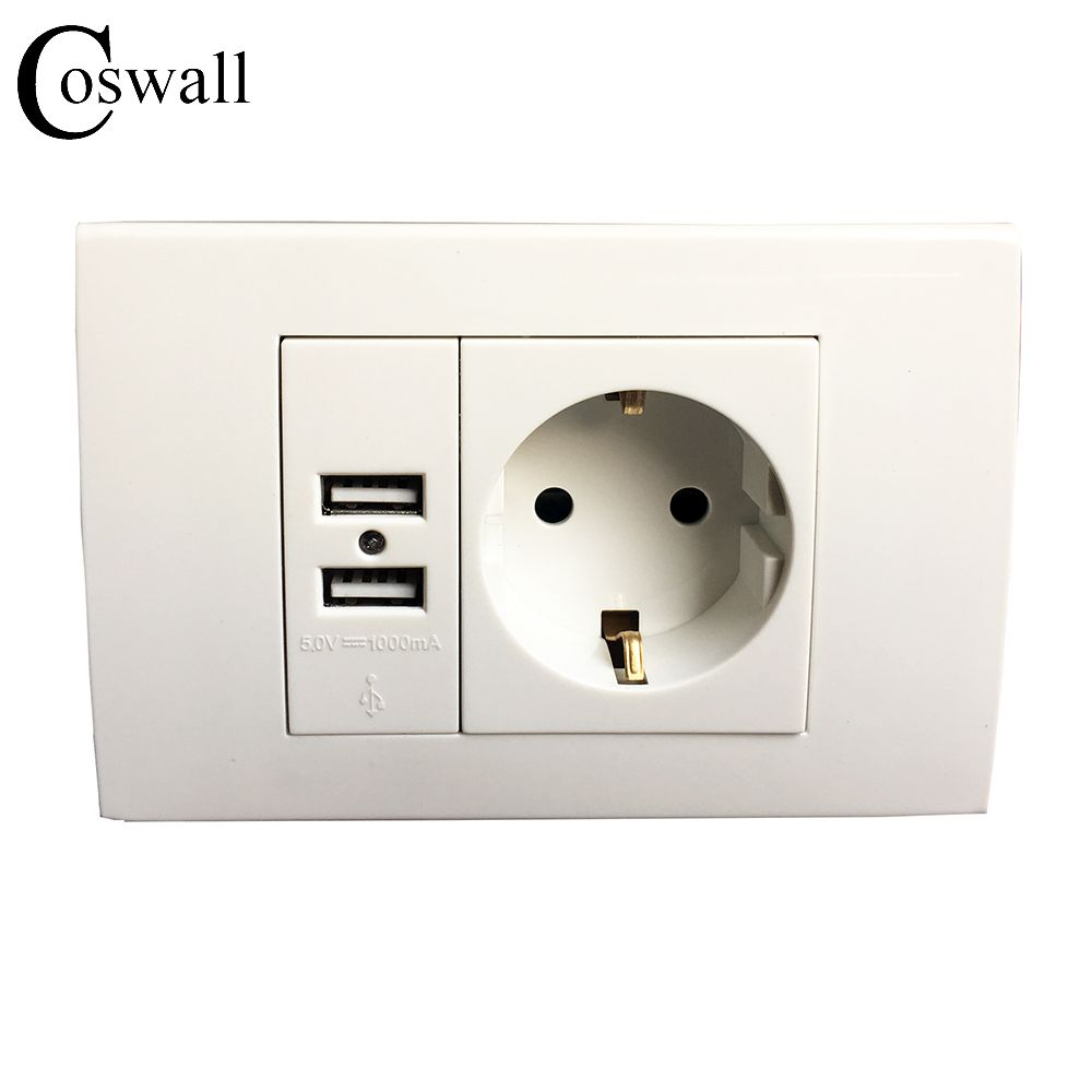 Wall Power Socket Plug Grounded 16A EU Standard Electrical Outlet ...