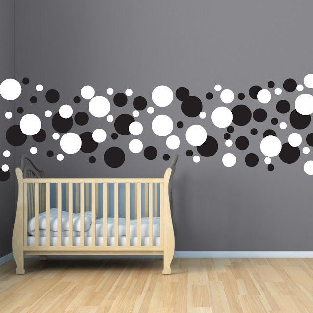 Janey Mac Polka Dots Wall Border Decal Set Polka dot