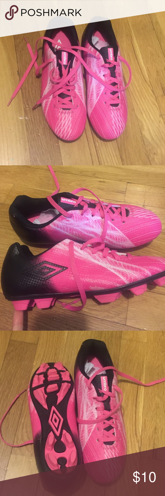Girls cleats Never worn!! Pink girls soccer cleats! Umbro Shoes Athletic Shoes