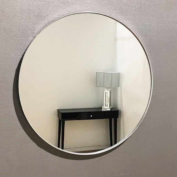 Large Arden Round Silver Mirror 70cm Mirror Wall Mirror Silver