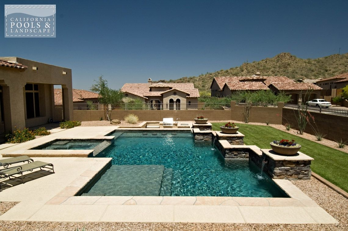 Arizona In Ground Swimming Pool Builders Modern Pool Swim Backyard Paradise Pinterest