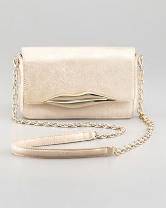 Diane von Furstenberg Flirty Metallic Mini Crossbody Bag, Champagne - Bergdorf Goodman