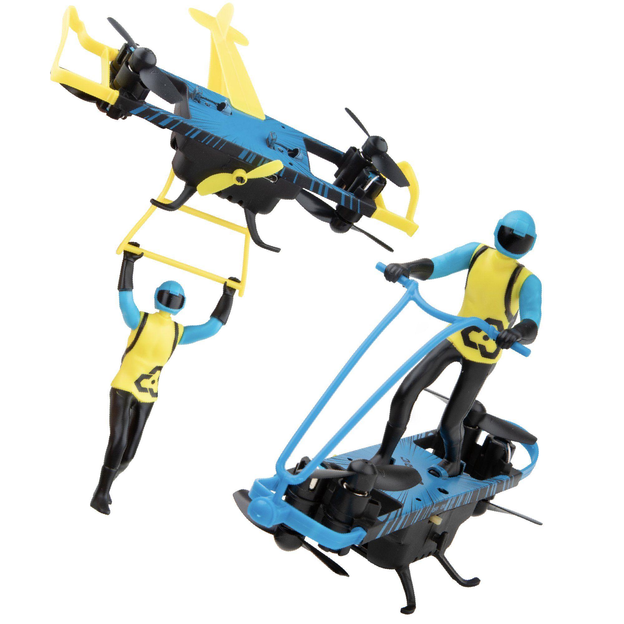 Stunt Riders 2in1 Mini Drone with Remote Control and