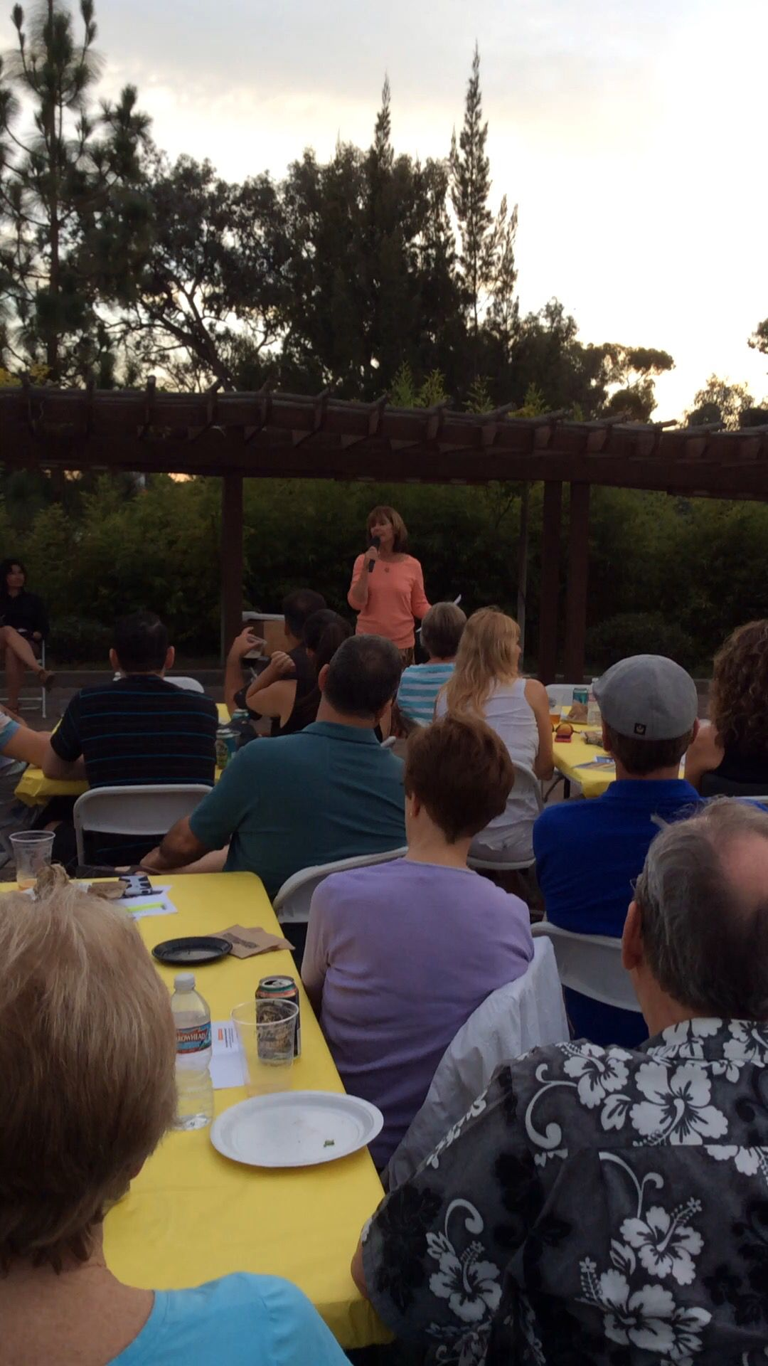 Beekeeper Mari Jarvis gives a talk about colony collapse disorder at Suds & Science