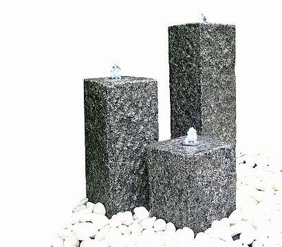 Granit Gartenbrunnen Nizza 56 X 56 X 77 Cm Deko Brunnen