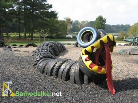 scrap tire snake 10 diy ideas of reused tires for your garden