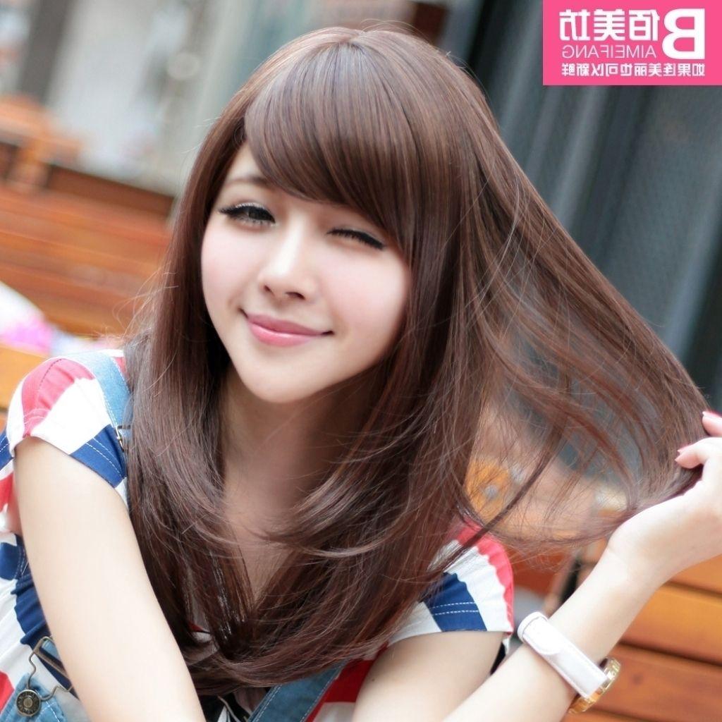 Bildergebnis Fr Korean Hair For Long Face Hair Hair Styles