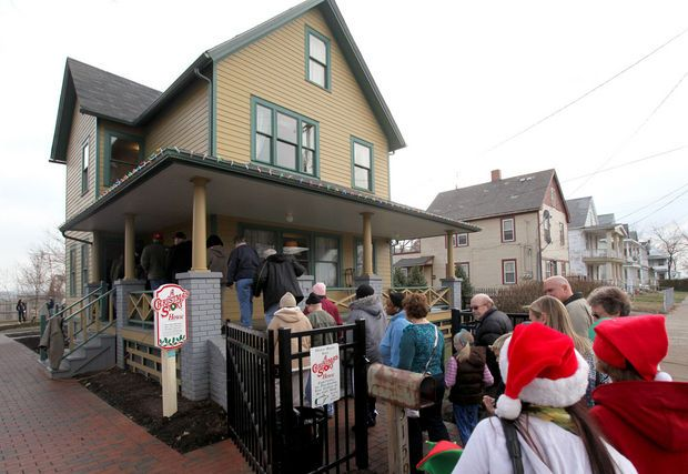 A look inside A Christmas Story House and Museum: Leg lamps ...
