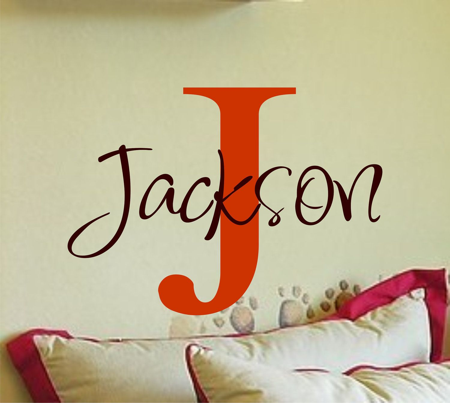 Personalized Monogram Kids Wall Decals Vinyl Wall Art Vinyl - Monogram vinyl wall decals for boys