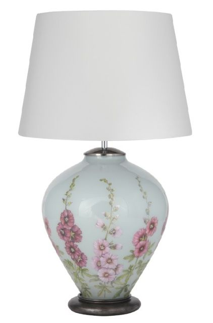 The Jenny Worrall Hollyhock Table Lamp Has A Ginger Jar Shaped