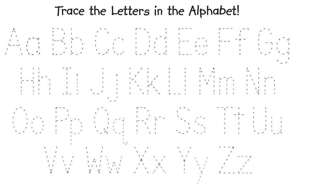 free traceable alphabet printout | K5 Worksheets | Alphabet and ...