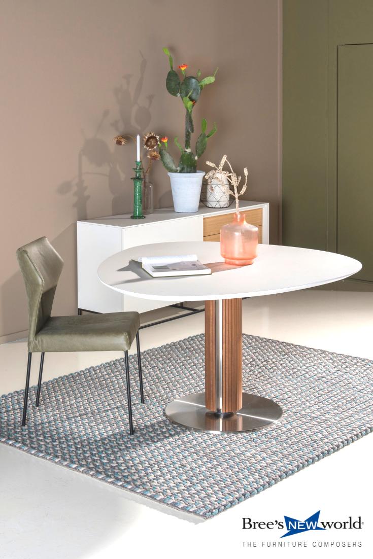 Dressoir En Eettafel.Design Eettafel Steely Van Bree S New World Met Fly Eetkamerstoel