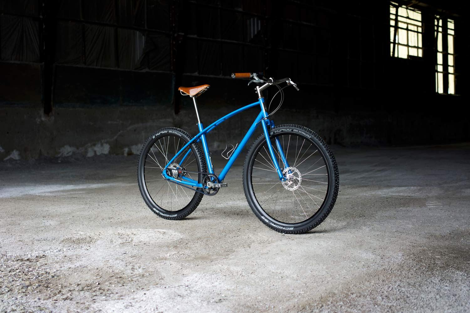 Budnitz Bicycles No 3 Steel In India Blue With Brooks Honey