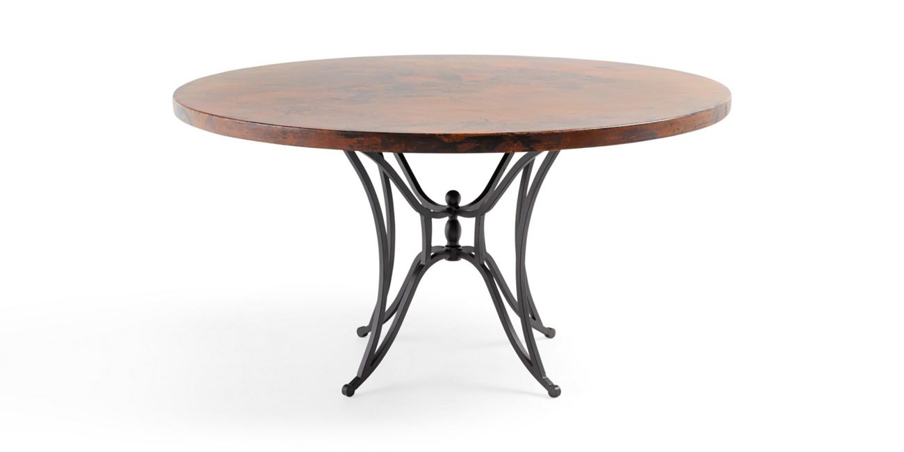 Copper 60 Round Table Top With Kenya Dining Base Check Out Their