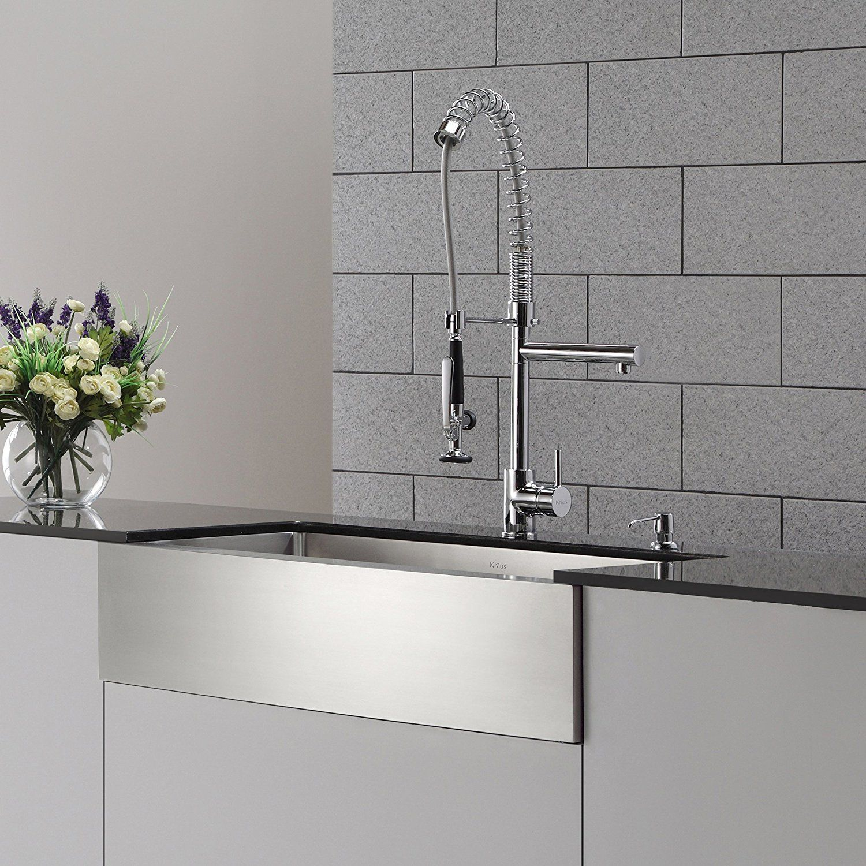 Kraus KPF 1602 KSD 30CH Single Handle Pull Down Kitchen Faucet