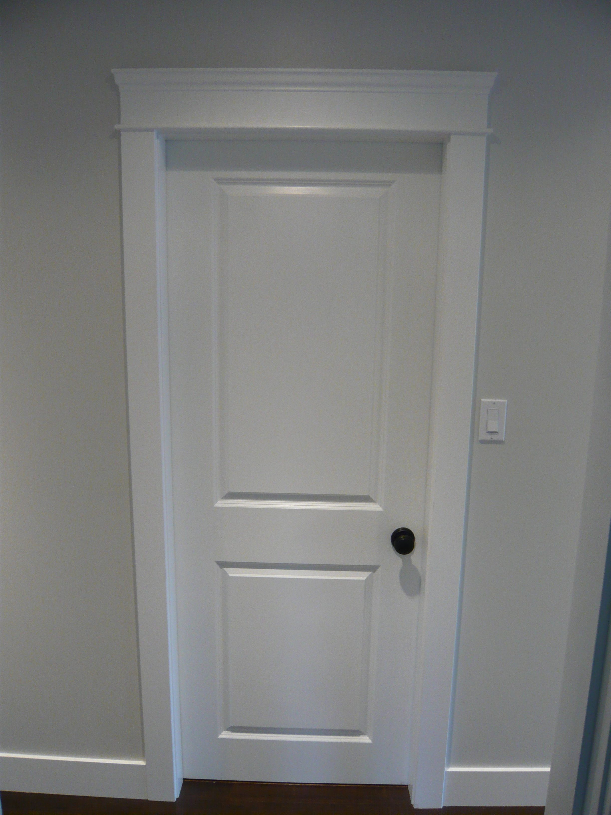 Updated door and door casings by northern concepts for for Baseboard and door trim