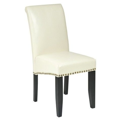 Find Product Information, Ratings And Reviews For Parsons Nailhead Trim  Dining Chair Wood/Cream   Office Star Online On