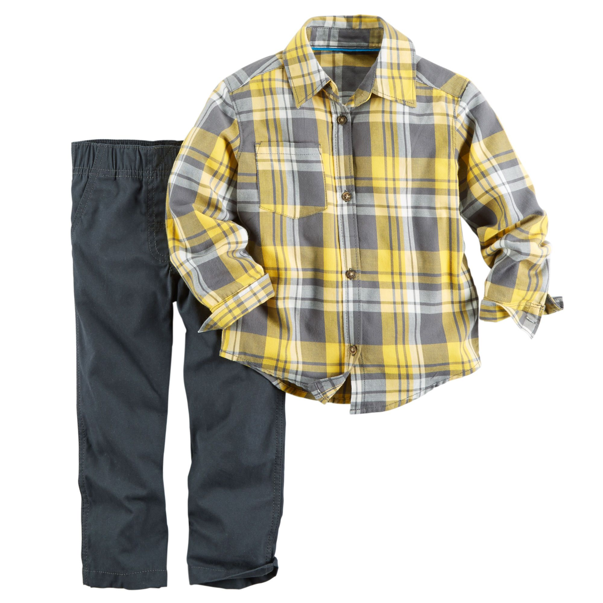 Flannel shirt for baby boy  Baby Boy Piece Flannel Shirt u Pant Set  Carters  stuff for