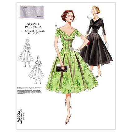 Amazon.com: Vogue Patterns V2903 Misses\'/Misses\' Petite Dress, Size ...