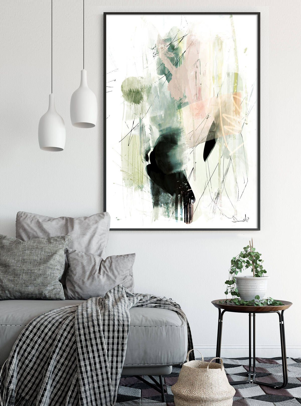 Printable Abstract Art, Minimalist, Modern art, Large art, Living ...