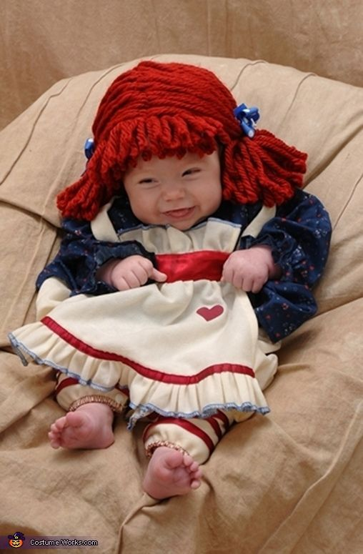 Charity My 3 1/2 month old daughter Camille is Raggedy Ann this year for her first Halloween! I found this little wig online after finding the Raggedy Ann ...  sc 1 st  Pinterest & Charity: My 3 1/2 month old daughter Camille is Raggedy Ann this ...